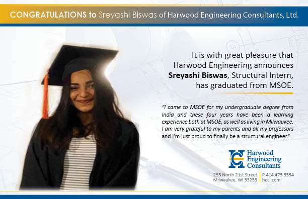Congratulations to Sreyashi Biswas on Receiving her Diploma